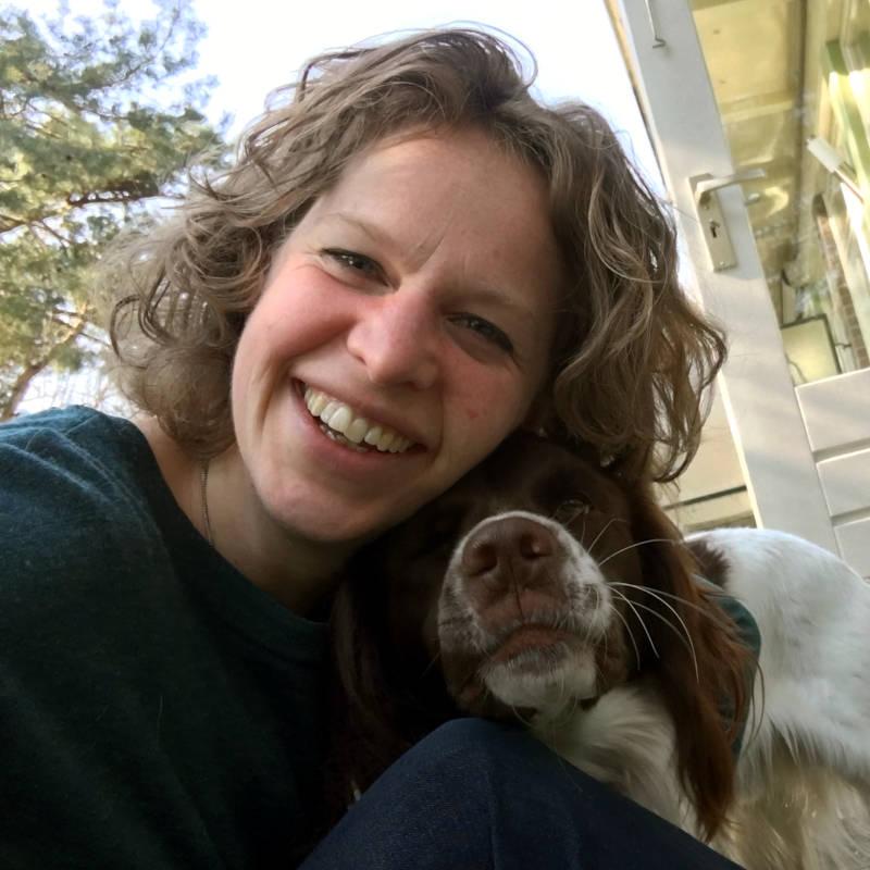 wandelcoach Annemarie met hond Kerel